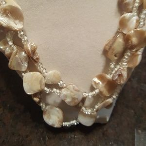 Multilayer shell necklace
